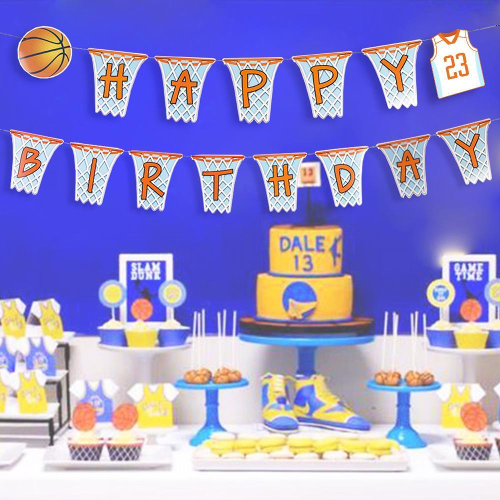 BESTOYARD Basketball Th/ème Parti Jetable Papier Vaisselle Ensemble De Papier Assiettes /À G/âteaux Tasses Basket Fans De F/ête Fournitures 10 Pcs