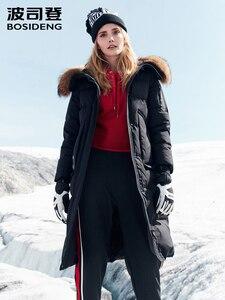 Image 1 - BOSIDENG harsh winter jacket women goose down coat big natural fur outlife waterproof windproof thicken long parka B80142154