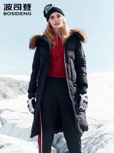 BOSIDENG 거친 겨울 자켓 여성 거위 다운 코트 큰 자연 모피 outlife 방수 windproof 두꺼운 긴 파카 B80142154