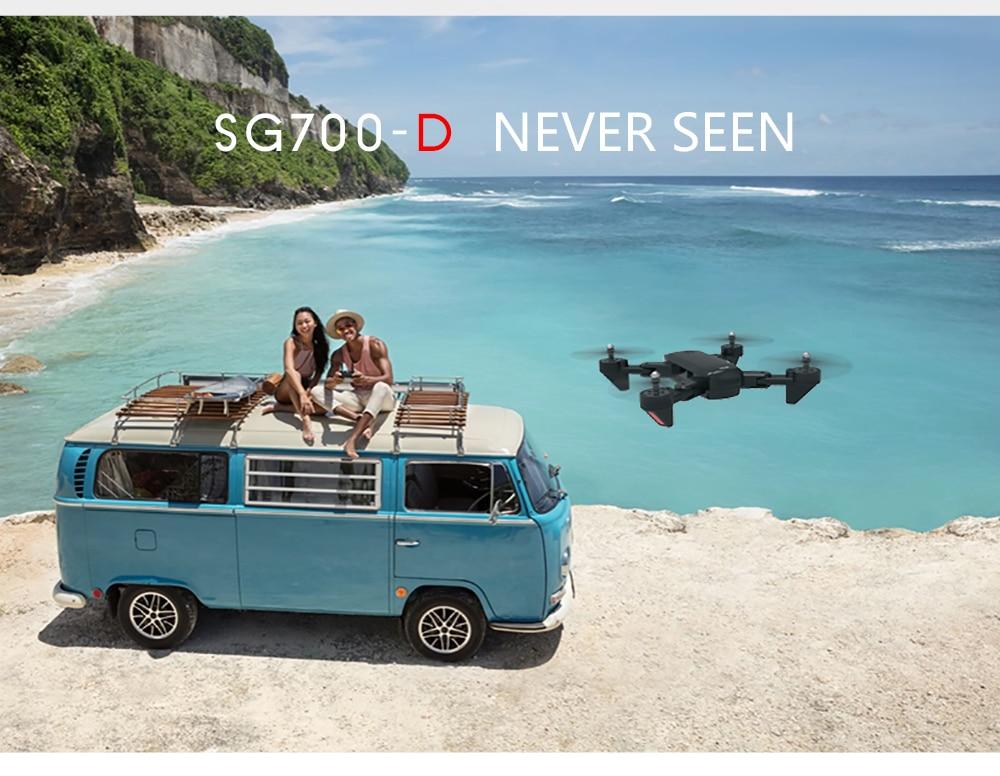 Sg700d quadcopter dron drones com câmera hd