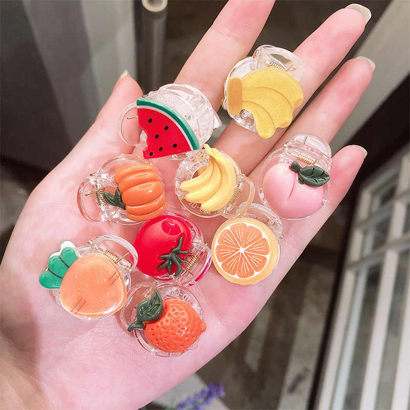 Summer Cute Girl Hair Pins Headwear Fashion Hairclip Colorful Vegetable Fruit Hair Claws Korean Children's Hair Accessories