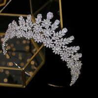ASNORA da sposa tiara corona della sposa di cristallo della fascia corona da sposa accessori per capelli copricapo gioielli laurea A00574