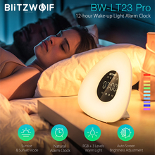 BlitzWolf BW LT23 Pro Wake up Light Natural Alarm Clock with Sunrise  Sunset Mode Touch Smart Control RGB Dimmable Night Lamp