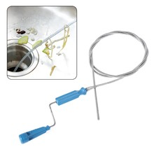 1 takım plastik drenaj borusu temizleme aracı çubuk lavabo drenaj yılan takunya saç kireç sökücü 180cm kolu ile ev mutfak armatürü