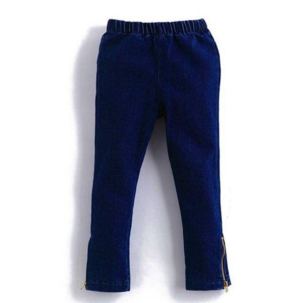 Весна-Осень, джинсы для девочек, детская одежда, детские джинсы с вышивкой в виде кота, для детей 2-От 3 до 12 лет - Цвет: Blue