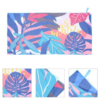 Ręcznik plażowy z mikrofibry ładny ręcznik plażowy ręcznik plażowy z nadrukiem na basen tanie i dobre opinie CN (pochodzenie) Microfiber Beach Towel Microfiber Pool Towel Microfiber Bath Towel Superfine Fiber Blanket Quick Dry Mat