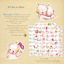 40pcs New cute baby Cartoon Stickers Toy for DIY Exercise Book Diary Toys For Children Colorful Toy Sticker