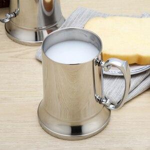 Image 4 - 450/560ml Edelstahl Silber Tassen Kaffee Bier Tasse Doppel Wand Wasser Becher Reisen Outdoor Camping Sport Tassen für Home Bar