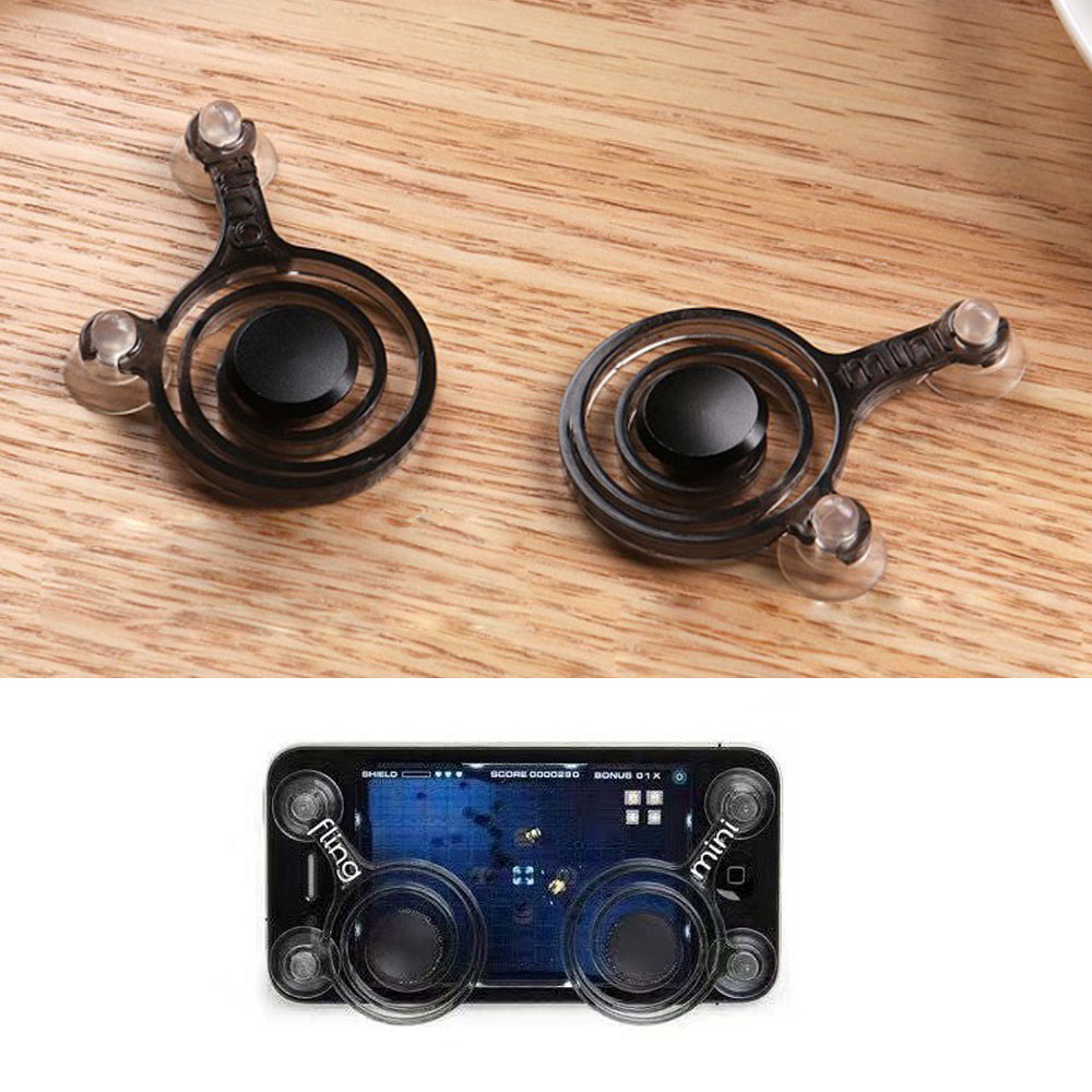 Phone Joystick Screen Game Controller Rocker Stick Button with Suction Cup V1 for Mobile Phone Android Iphone Tablet iPad Gaming image
