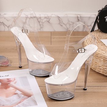 Clear Platform Stripper Heels 2