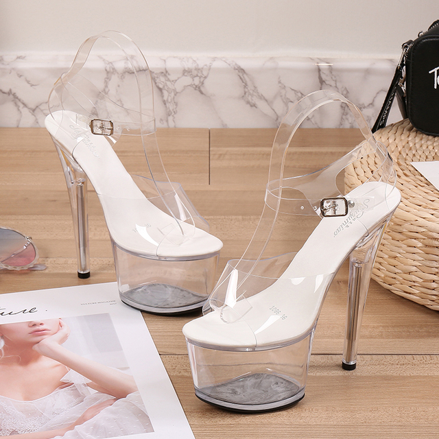 Clear Platform Stripper Heels 2