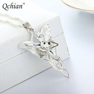 На ожерелье лорд из Арвен севенстар кулон из фильма украшения с украшением в виде кристаллов Сумерки звезда кулон крутящий момент подарок для женщин