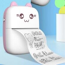 Thermal-Printer Photo-Label Question-Printing Mini Memo Usb-Cable 200dpi Portable Wirelessly