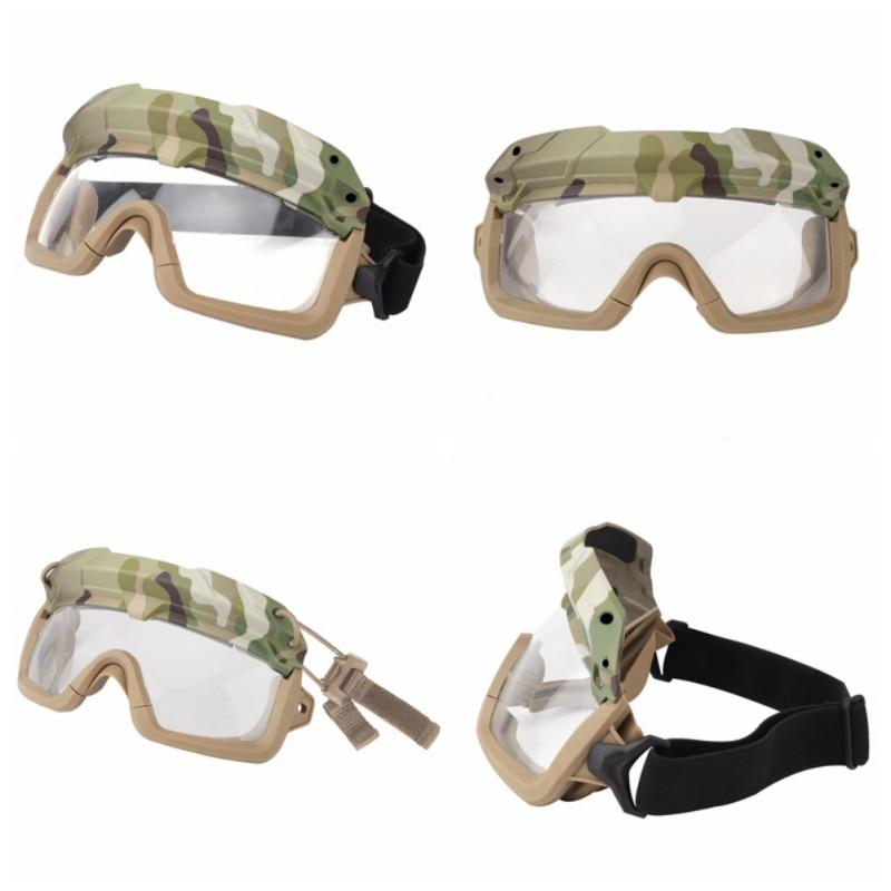 Ветрозащитные тактические очки для страйкбола, охотничьи очки, очки для стрельбы, мотоциклетные очки Wargame, очки для верховой езды, очки для пейнтбола, защита глаз - Цвет: 1