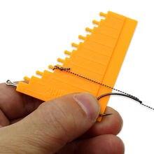 1 pçs ferramentas de pesca da carpa medidor de cabelo para equipamento de cabelo medição acessórios de pesca da carpa método grosseiro alimentador pesca equipamento