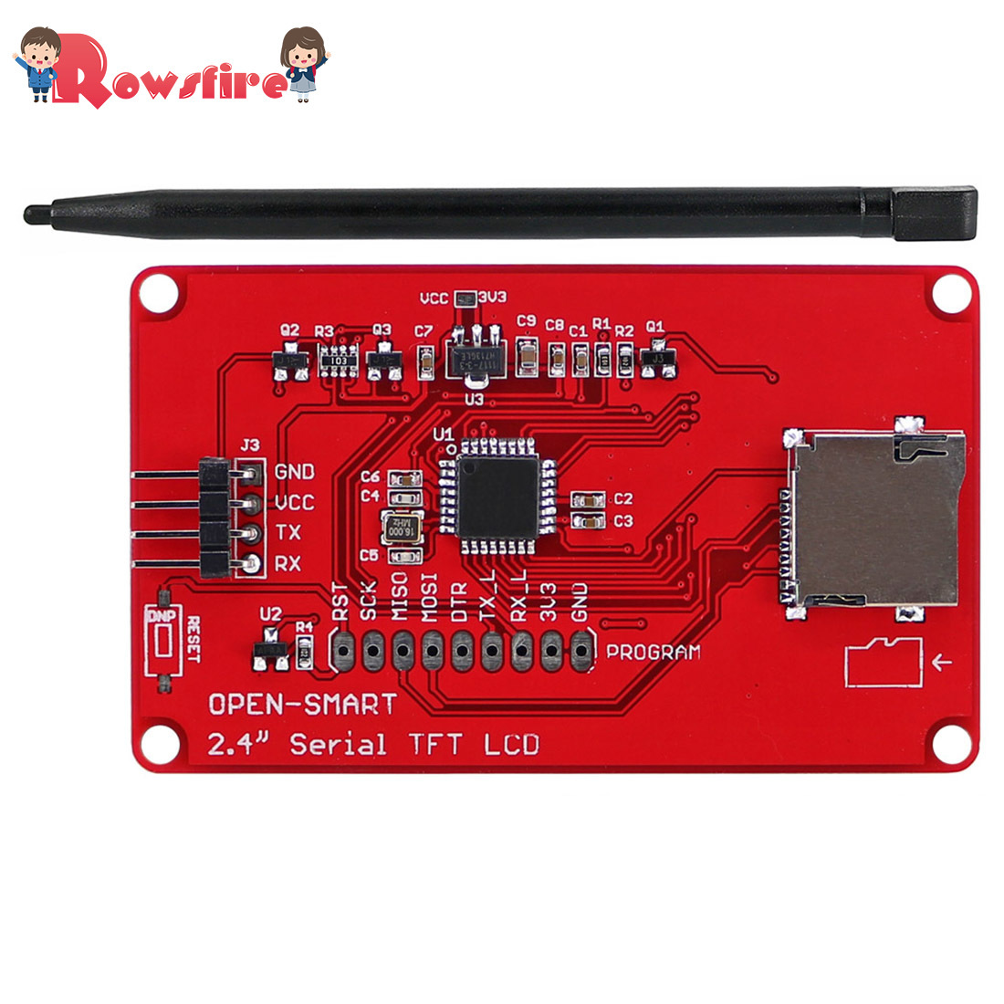 2.4 Inches UART Serial TFT LCD Touch Screen Expansion Shield With Touch Pen For Arduino/ST/51/RPi