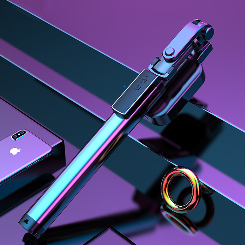 עופרות הסלפי Stick חצובה, 63 אינץ להארכה הסלפי Stick עם Bluetooth מרחוק & הסלפי אלחוטי אור עם אור מילוי (1)