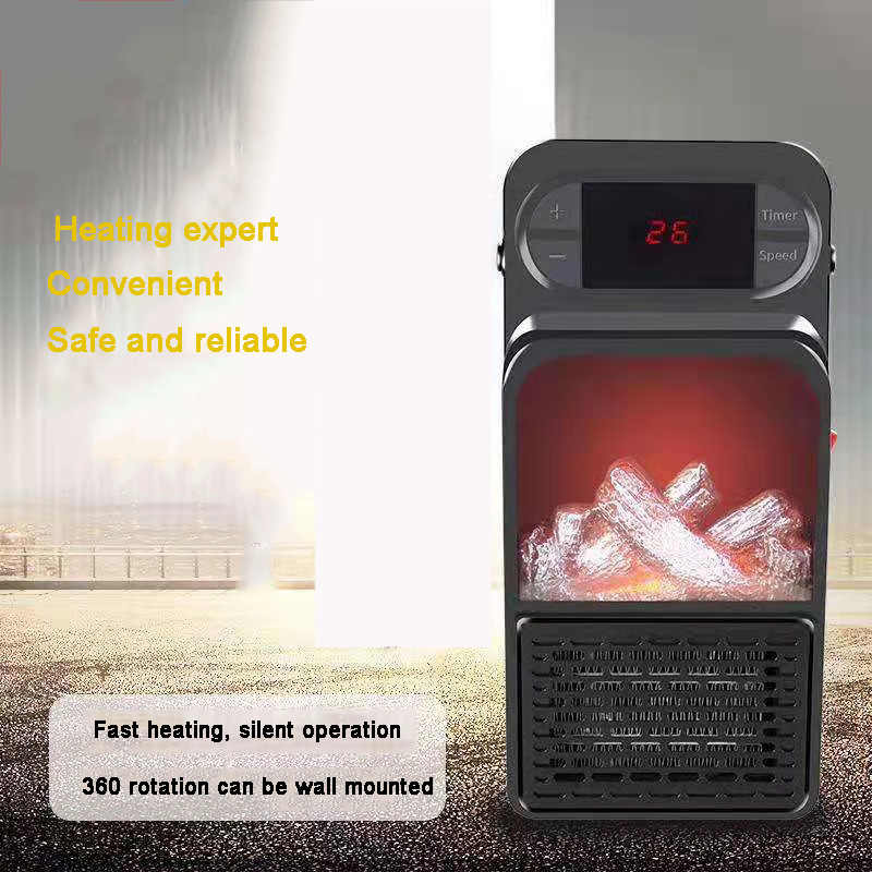 1000W لهب سخان المكونات في جدار سخان الفضاء الكهربائية البسيطة الدافئة مروحة قابل للتعديل درجة الحرارة منفاخ المبرد اليد التدفئة ل غرفة