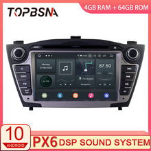 TOPBSNA PX6 Android 10 Auto-Multimedia-Player Für Hyundai IX35 TUCSON 2009-2015 GPS Navigation 2 Din Auto Radio stereo 4G + 64G DSP