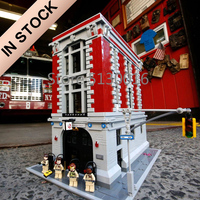 16001 In Stock Creator Ghostbusters Firehouse 75827 4705Pcs Street View Model Building Blocks Bricks Toys Lepinblocks 83001