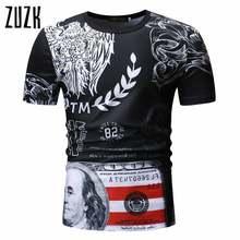 Футболка zuzk мужская с коротким рукавом Повседневная рубашка