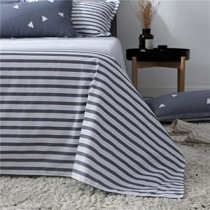 Image 4 - Slowdream フラットシート寝具セット北欧ダブルツイン布団カバーセット家の装飾のベッドリネンセット寝具大人寝具