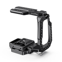 SmallRig BMPCC 4K Half Cage for Blackmagic Design Pocket Cinema Camera 4K feature with Built in Manfrotto 501PL plate 2255B