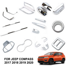 For Jeep Compass 2017 2018 2019 2020 Front Fog Light Rear Trunk Cup Chrome Cover Trim Molding Accessories Car Styling Decoration(China)