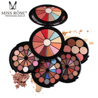 Miss Rose Makeup Kit Full Professional Mirror 72 Shades Matte Shimmer Eyeshadow Lipstick Bronzer Blush Concealer Face Powder Set