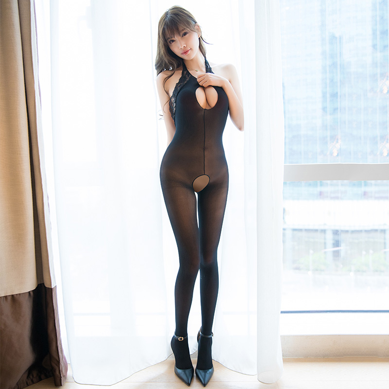 High Elastic Thin Sexy Backless Bodystockings Open Crotch Party Lady Bodysuit Sexy Hollow Out See Through Pantyhose for Women