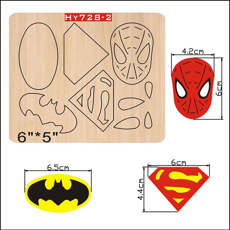 Spiderman Batman Logo Wooden Die Cutting Die Suitable For Common Die-cutting Machines In The Market