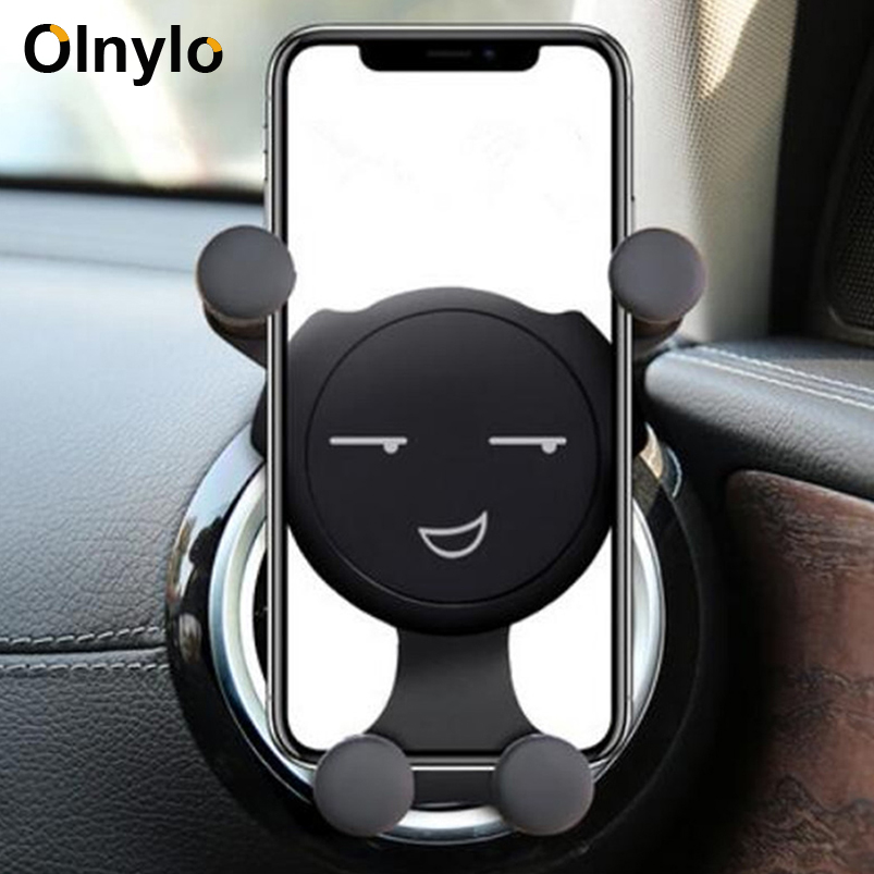 Car Phone Holder For IPhone 11 Pro Max Huawei Mate 30 Pro Air Vent Mount Mobile Phone Holder Stand in Car Mount Holder Support