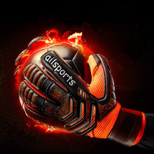 ZHENZU Professional Goalkeeper Gloves Finger Protection Thickened Latex Soccer Goalie Gloves Football Goalkeeper Gloves(China)