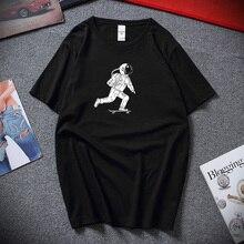 Astronauts skateboard T shirts Summer Camiseta Masculina Streetwear Unisex Funny T-shirt