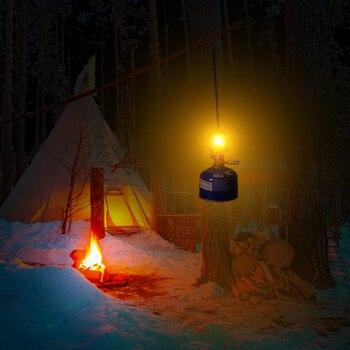 Mini Gas Lamp Outdoor Camping Lantern Tent Lamp Torch Hanging Glass Lamp Mini Camping  Portable Gas Light Camping Equipment 6