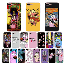HOUSTMUST Courage The Cowardly Dog soft phone case for iphone x xr xs max 7 6s 8 6 plus 5s se 5 cover Funny cartoon cute shell