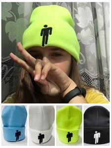 NXYY Knitted Hats Embroidery Billie Eilish Gorras-Bonnet Cuffed Warm Plain Winter Women