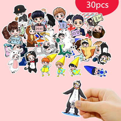 Cute Cartoon EXO Sticker Kids Paper Diary Journal Scrapbooking Decorative Diy Stickers For Children Classic Toys