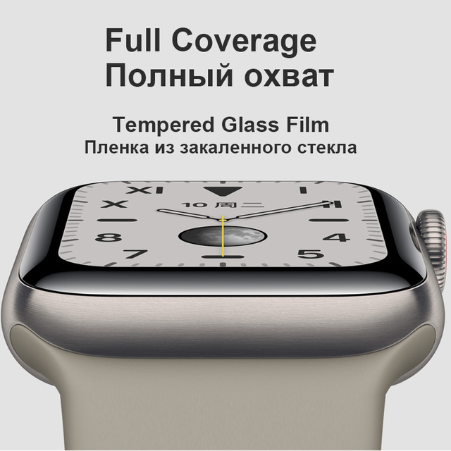 3D Full Curved Soft Tempered PET for Apple Watch Series 5 4 Ultra-thin Screen Protector for iWatch 38 40 42 44mm Not Glass 5