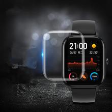 4 szt Pełnoekranowy zegarek Protector pełna folia hydrożelowa do Xiaomi huami Amazfit GTS tanie tanio smart watch for Xiao huami Amazfit GTS
