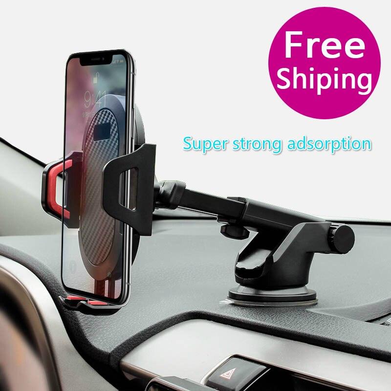 Pare-brise gravité ventouse Voiture Support pour téléphone pour IPhone X Support pour téléphone dans la Voiture Support Mobile Smartphone Voiture Support Magicpad