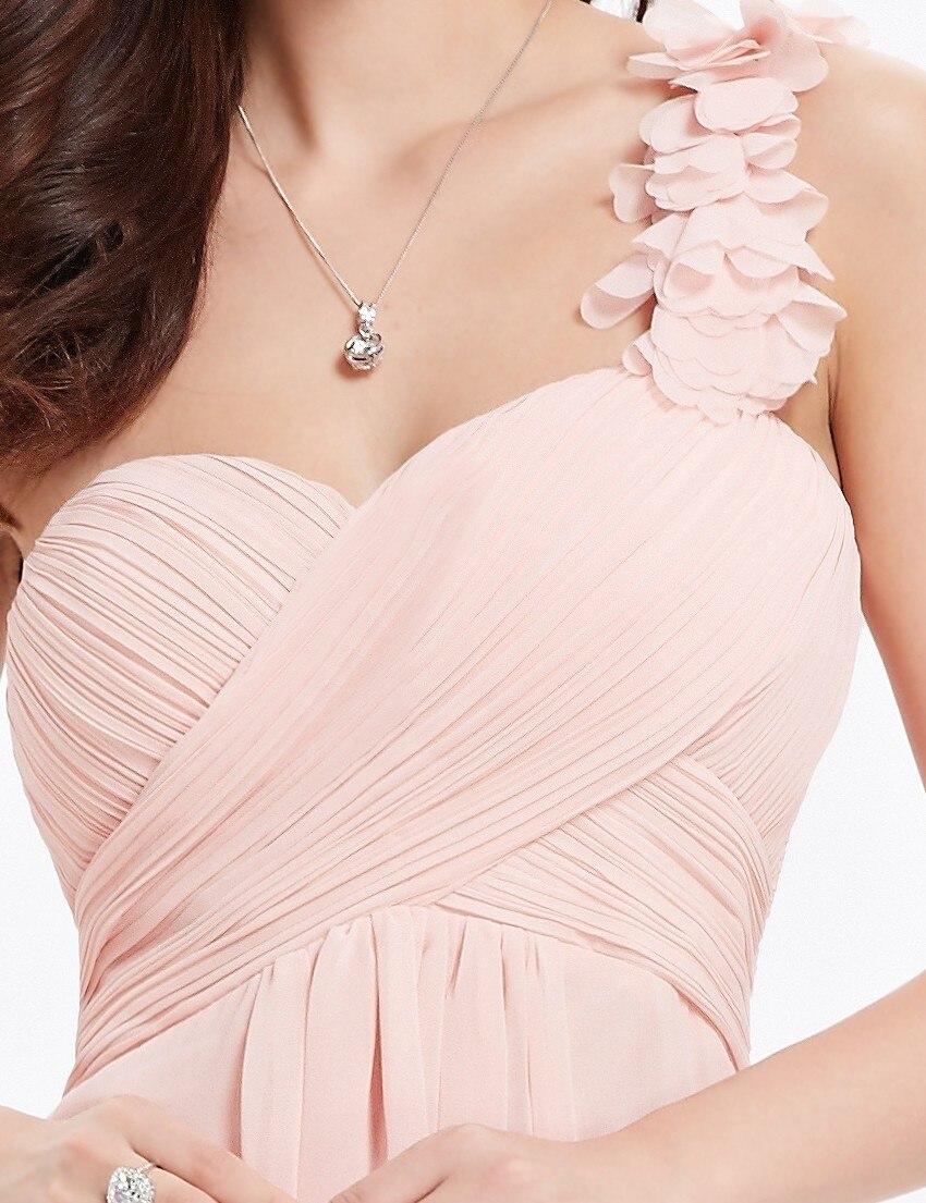 Цветы розовый персик коралловый цвет одно плечо шифон короткие элегантные коктейльные платья HE03535 новое поступление