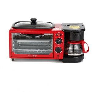 Кофейная омлет 4 л 1050 Вт Бытовая многофункциональная машина для завтрака семейный тостер для хлеба сковорода для жарки Встроенная