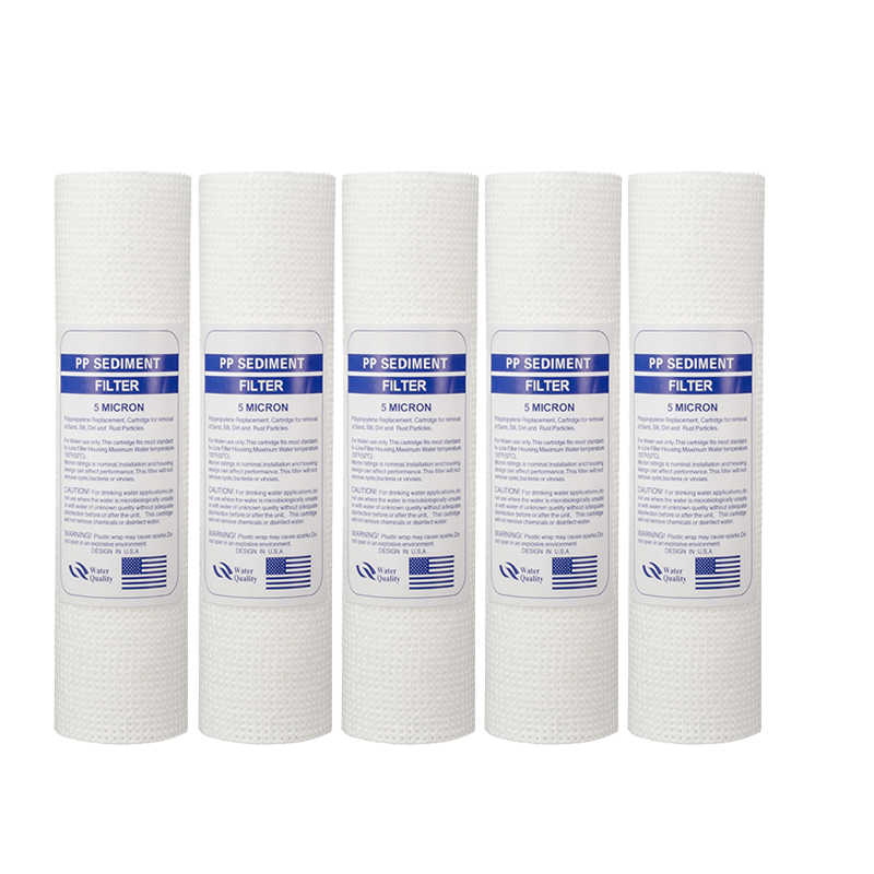 Filter Penjernih Air 10 Inch 5 Micron Sediment Filter Air Cartridge PP Kapas Filter untuk Everse Osmosis System