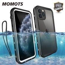 Caso à prova dwaterproof água para iphone 11 pro max caso à prova de choque para iphone xs max xr xs funda 360 proteção completa transparente mergulho caso