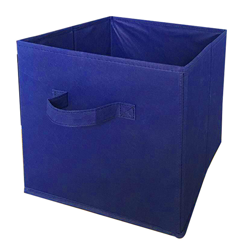 Foldable Cloth Storage Square Basket Bins Organizer Containers Drawers, 1 Pack, Blue