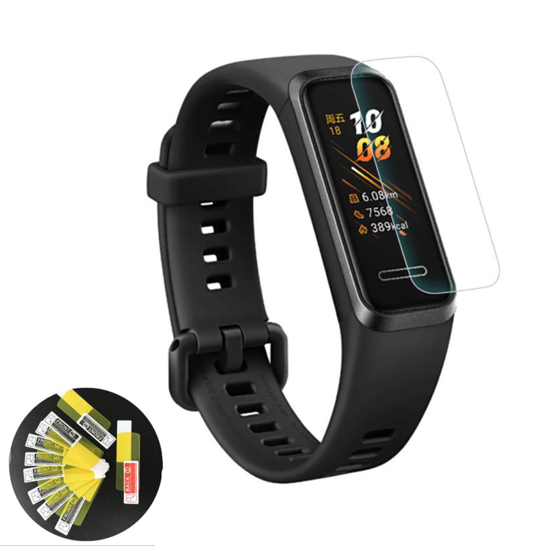 2pcs Soft TPU Clear Smartband Protective Film Guard For Huawei Band 4 Smart Watch Band4 Wristband Full Screen Protector Cover