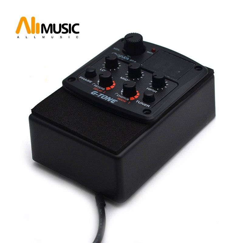 Cherub g-tone GT-6 guitare acoustique préampli Piezo Pickup 3 bandes égaliseur EQ accordeur LCD avec réverbération/retard/Chorus/large