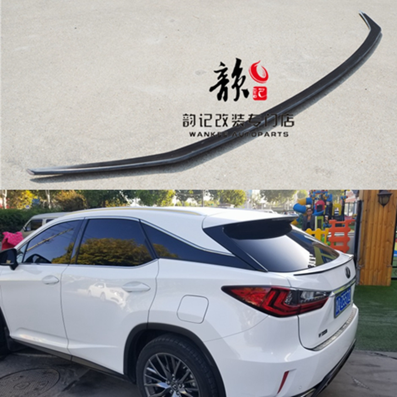 FRP And carbon fiber Unpainted Color Rear Trunk Boot Wing Rear Lip Spoiler For Lexus <font><b>RX200t</b></font> RX450h RX 2016 2017 2018 Car Styling image