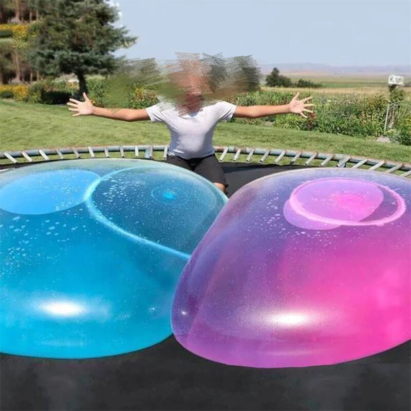 Hot Air Blowing Ball Transparent Bubble Inflatable Creative Children 's Big Light Toy